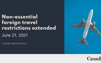Travel restrictions extended!